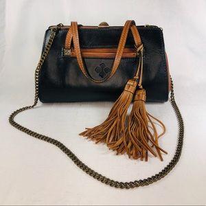 EUC Patricia Nash leather brass snap closure purse